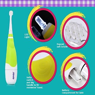 SEAGO Baby Massage Electric Teething Toothbrush
