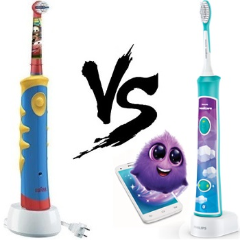 Oral B Kids vs Sonicare for Kids Electric Toothbrush