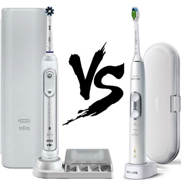 Oral B 7500 vs Sonicare 6100